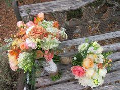 Bride and bridesmaid bouquets Bridesmaid Bouquets, Brides And Bridesmaids, Florals, Wedding Flowers, Floral Wreath, Wreaths, Decor, Floral, Floral Crown