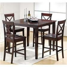 High-top dining table set