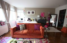 Living in a shoebox     House tour Nikki Rapports girly studio apartment