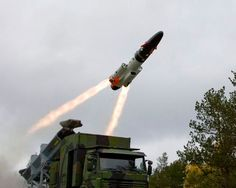 A ground-based RBS15 Mk3 SSM being launched from a truck mounted canister, Image courtesy of Saab AB. - Image - Naval Technology