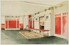 Pretty wild colors and stencilling. Laurelhurst Craftsman Bungalow: Interiors in Colours 1912
