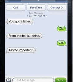 A conversation between a dog and his owner. If your dog could text. So funny!