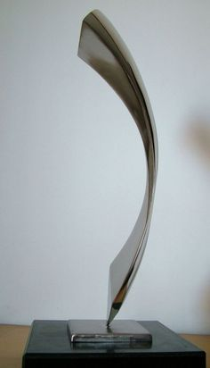 Stainless steel sculpture and granite Stainless Steel Abstract Contemporary…