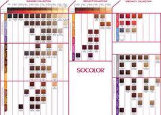 Matrix socolor color chart.