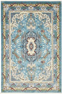 Blue Tabriz Design Area Rug