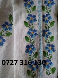WhatsApp Image at Basic Embroidery Stitches, Embroidery Works, Hand Embroidery, Cross Stitch Borders, Cross Stitch Flowers, Cross Stitch Patterns, Diy And Crafts, Projects To Try, Traditional
