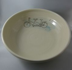 Greg Voisin's Tandem Bicycle Bowl. Love.
