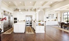 Santa Barbara estate kitchen double island