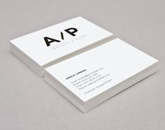 AP Shutters & Blinds logo and business card design by The Drop.