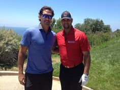 Albert Pujols got to meet Sheldon Souray...or is it the other way around? Love seeing Anaheim athletes connect!