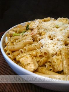 Gluten Free Penne with Chicken and Pesto - The Baking Beauties | Gluten-Free Recipes