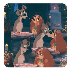 Day 15:Favorite Romantic Moment Lady and the Tramp....so this was hard cause just about all Disney movies have  romantic moments in them so I decided to go with one of the original Disney movie romantic moments.:)