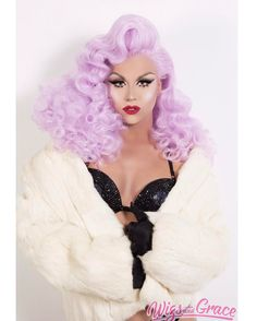 "5,507 Likes, 116 Comments - Farrah Moan (@farrahrized) on Instagram: ""Feeling this lavender fantasy @wigsandgrace """