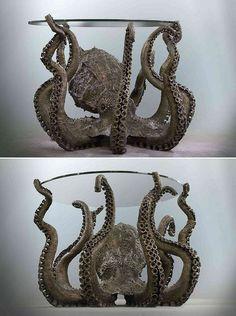 90 Quirky Decor Ideas to Make Your Home Unique - The Urban Interior Octopus Art, Octopus Decor, Quirky Decor, Decoration Originale, Ideias Diy, Schmuck Design, Tentacle, Cool Furniture, Bedroom Furniture