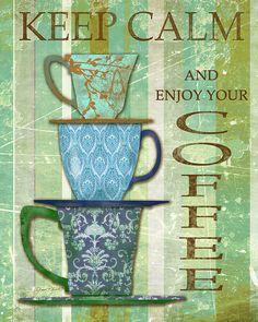 I uploaded new artwork to fineartamerica.com! - 'Keep Calm - Coffee' - http://fineartamerica.com/featured/keep-calm--coffee-jean-plout.html via @fineartamerica