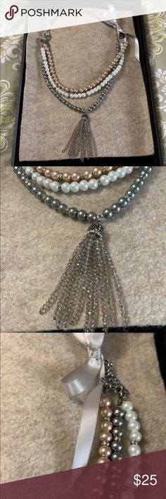 Pearl Beads, Crystal Beads, Glass Beads, Pearl Necklace, Crystals, Free Wedding, Silk Ribbon, Mother Gifts, Vintage Inspired