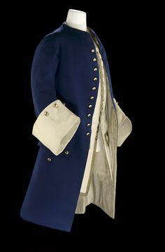 Royal Naval uniform. 1748  Dress coat of lieutenant.