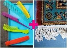 Use one to unsnarl tangled fringe on an area rug. As with your hair, start at the tips and work in, to avoid making a bigger knot.  - GoodHousekeeping.com