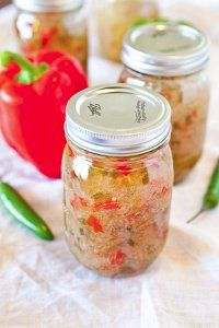 Try this fantastic canning recipe for Hot Pepper Jelly. So unique and pretty.