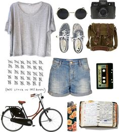 """""""road trip by bike.."""" by d0odle ❤ liked on Polyvore"""