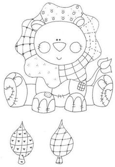 Wouldn't it be cool for a stitch sampler? Pattern Coloring Pages, Animal Coloring Pages, Coloring Book Pages, Coloring Sheets, Applique Patterns, Embroidery Applique, Quilt Patterns, Embroidery Designs, Digi Stamps