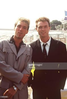 British Pop Musicians Martin Kemp with his brother Gary Kemp Members of the group 'Spandau Ballet' At the 1988 Cannes Film Festival.