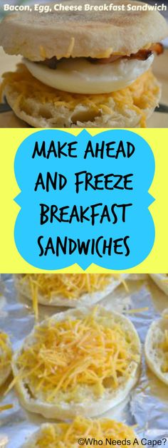 Make Ahead and Freeze Breakfast Sandwiches {pinned over 1.2K times}