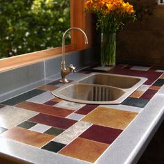Recycled Aluminum Countertops And Tiles.