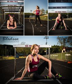 track hurdles senior portraits photo in Oak Ridge Knoxville, TN by Bledsoe Photography
