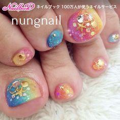 Pretty Toe Nails, Pretty Toes, Summer Toe Nails, Toe Nail Designs, Toe Nail Art, Nail Stamping, Mani Pedi, Starfish, Shells