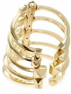 Giuseppe Zanotti Gold Finish Adjustable Multi Cuff Bracelet Giuseppe Zanotti, http://www.amazon.com/dp/B005UAHYPO/ref=cm_sw_r_pi_dp_Dh10qb1JQWH6F