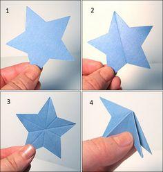 PANELATERAPIA - Blog de Culinária, Gastronomia e Receitas: Estrela de papel em 3D