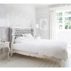 The French Bedroom Company's Bergerac Silk Upholstered Bed | French style luxury bed for romance and elegance.