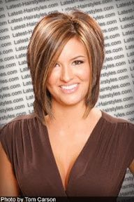 Layered Bob---Sooo , so cute! Wonder if my hair could do this while growing out a bit....  hmmmm.....
