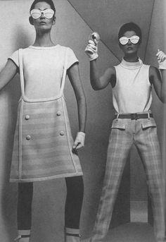 Space age fashion photographed by William Klein for Vogue, 1965.