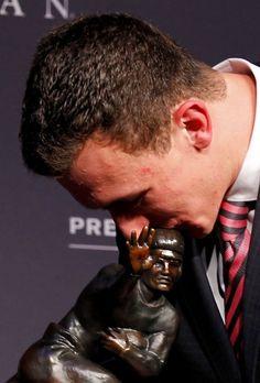Johnny Manziel Pictures - Texas A Aggies - ESPN. Johnny Football accepting the Heisman. Woo Hoo!