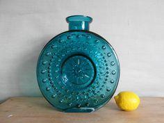 Vintage WMF - large vase  - art glass - Erich Jachmann - turquiose - mid century. kr900.00, via Etsy.