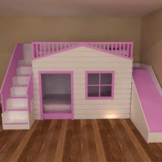 Playhouse Bunk Beds - Girls and Boys Beds Bespoke Furniture
