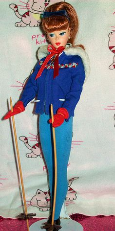 Vintage 1961 Barbie Ski-Queen