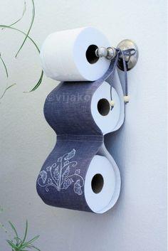 2roll toilet paper holder modern Jacobean hand by vijako on Etsy
