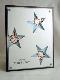 Welcome to the May Pals Hop ! Today our group of papercrafters will be showcasing projects featuring two big days -- Father's Day and Gradua. Boy Cards, Kids Cards, Cute Cards, Scrapbooking, Scrapbook Cards, Punch Art, Star Cards, Dad Day, Fathers Day Cards