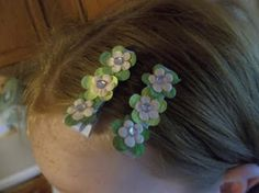 st. patrick's day hair barretts  $5.00
