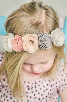 Image of VINTAGE ROSE FLOWER CROWN: