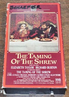 Taming of the Shrew VHS Elizabeth Taylor Richard Burton Cyril Cusack Alan Webb