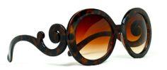 60's Vintage Style Retro Design Oversized Tortoise Frame  Sunglasses Women