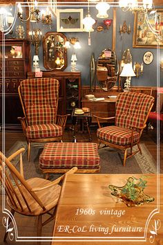 Early American / Colonial Revival Furniture.  Vintage 1960s