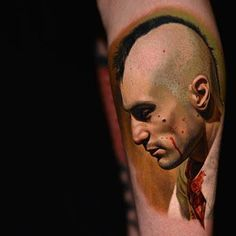 Taxi Driver Tattoo Portrait by Nikko Hurtado