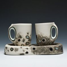 Audrey Rosulek Two Cups & One Saucer/Dish