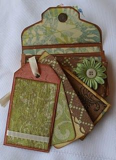 Tags and pocket for a mini album.