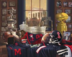 """""""Ole Miss Traditions"""" by Greg Gamble.  My favorite Ole Miss print."""